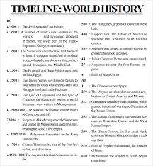 timeline templates for student 8 free sles exles format