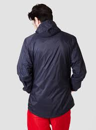 cycling wind jacket relwen cycling shell wind runner midnight in blue for men lyst