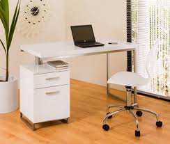 Glossy White Desk by Charming Small Office Desk For Better Office Functionality Lestnic