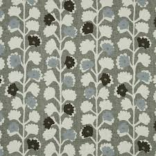 blue grey cotton floral upholstery fabric for furniture