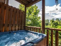 zippie too luxury log cabin tub homeaway sevierville