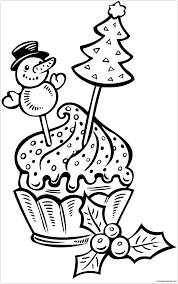 Christmas Cake Cup Coloring Page Free Coloring Pages Online Cup Coloring Page
