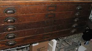 Antique Wood File Cabinets by Gorgeous Antique Dark Oak Architect U0027s Flat File Cabinet