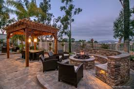 Restoration Hardware Fire Pit by Contemporary Patio With Exterior Stone Floors U0026 Fence In San Diego