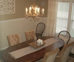 Chandeliers For Dining Room Dining Room Simple White Fabric Non Armchairs With Oval Wooden