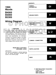 1994 mazda b4000 b3000 b2300 pickup truck wiring diagram manual