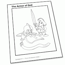the armor of god coloring page super church