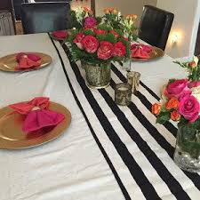 black white striped table runner 10 off with coupon code summer16 black and white stripe table