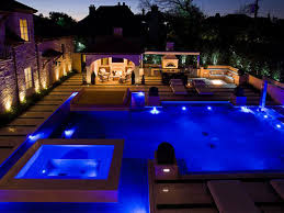 fantastic outdoor lighting ideas for second storey house design to pool repair modern swimming with design ideas blue light f spots for chic look get a