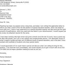 cover letter for special education teacher position elementary