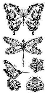 butterfly is a girly girly tattoo and can be made in many shapes