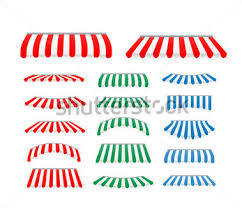 Red And White Striped Awning Free Awning Clipart 8