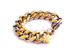 gold bracelet chains images Chunky chain bracelet gold silver shh by sadie
