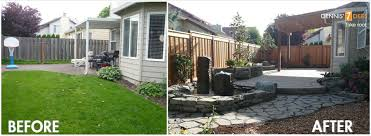 glamorous small backyard ideas before after pictures design ideas