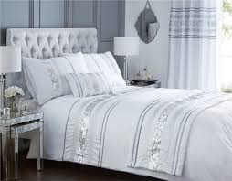 Next King Size Duvet Covers Bedding Set Christy Bedlinen Stunning Silver And White Bedding