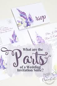 Wedding Invitation Suite What Are The Parts Of A Wedding Invitation Suite Charmcat