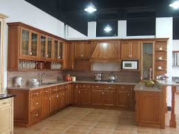 wood kitchen furniture modern wood kitchen ideas with ceramic floor and brown cabinet