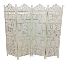 vintage moroccan teak folding screen chairish