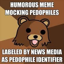 Humorous Memes - humorous meme mocking pedophiles labeled by news media as