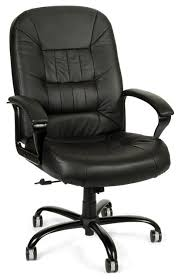 big u0026 tall black leather swivel desk chair w padded arms