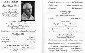Making A Funeral Program Free Funeral Obituary Programs Templates