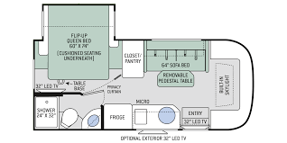 compass ruv class c motorhomes floor plan 23tb thor motor coach