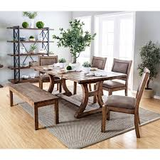 Overstock Dining Room Furniture Furniture Of America Matthias Industrial Rustic Pine Dining Table