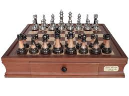 dal rossi italy metal marble finish chess set 2026dr