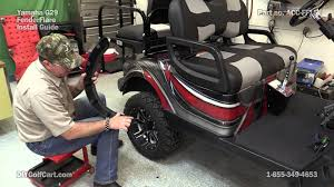 yamaha g29 drive fender flares how to install on golf cart youtube