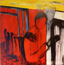 paintings abstract expressionism minimalistic people in black