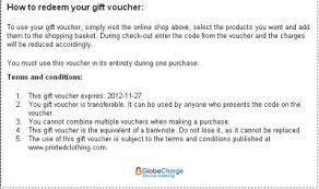 gift voucher samples gift voucher instructions