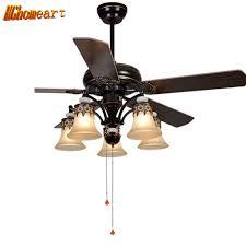 online get cheap chandelier fan light aliexpress com alibaba group hghomeart american led wooden fans light chandeliers for the bedroom e27 european style iron living room lamp retro chandelier