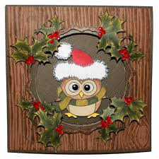 ozzy owl christmas rubber stamps products hobby art ltd