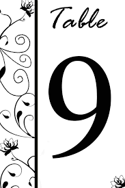 free table number templates free table number templates swirly flowers bridal party tees