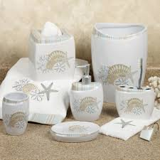 Seaside Bathroom Ideas Bathroom Seashell Bathroom Set Nautical Bathroom Accessories