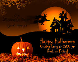 halloween closing early sign u2013 festival collections