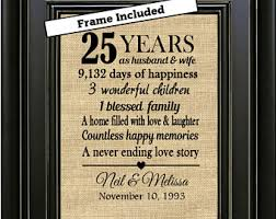 25th anniversary gifts 25th anniversary etsy