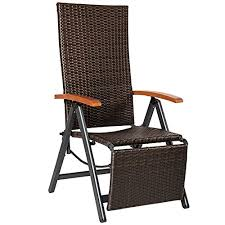 Armchair With Footrest Tectake Relax Chair Polyrattan Aluminium Garden Chair With
