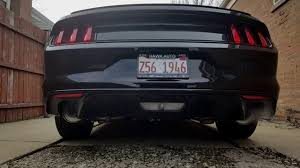 axle back exhaust mustang v6 roush axle back exhaust 2016 mustang v6