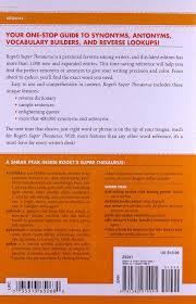 roget u0027s super thesaurus marc mccutcheon 0035313650680 books