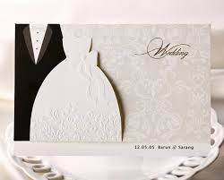 Blank Wedding Invitations Personalized Wedding Invitations Cards Traditional Tuxedo Dress