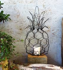 Pineapple Home Decor by Hanging Wire Pineapple Lantern Home Decor U0026 Lighting