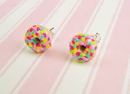 sweet earrings doughnut stud earrings shinycreations