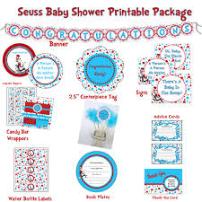 dr seuss cat in the hat hybrid printable baby shower package