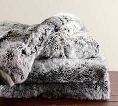 plaids fausse fourrure pour canapé plaid fourrure gris