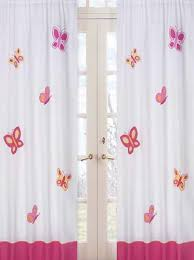 Pink And Orange Curtains Pink And Orange Butterfly Window Treatment Panels By Sweet Jojo