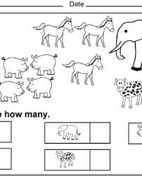 printable kindergarten counting worksheets coloring sheets