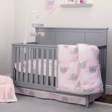 Pink And Gray Crib Bedding Sets Nojo Dreamer Collection 8pc Elephant Pink Grey Crib Bedding Set