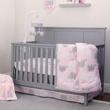 Grey Crib Bedding Sets Nojo Dreamer Collection 8pc Elephant Pink Grey Crib Bedding Set