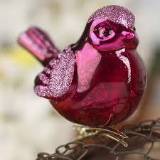 fuchsia mercury glass cardinal ornament ornaments